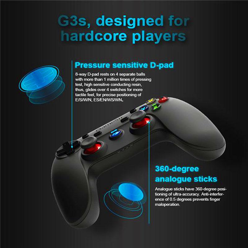 GameSir G3s Enhanced Edition, gamepads smartphone, gamepad android, gamepad iOS, windows mobile, PS3, gamepad pc, gamepad emuladores