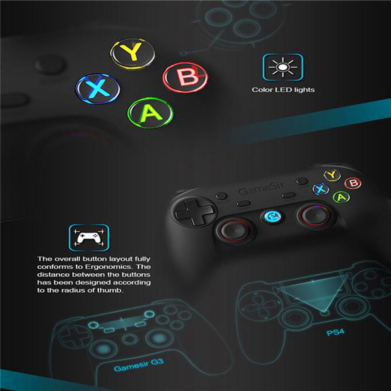GameSir G3s Enhanced Edition, gamepads smartphone, gamepad android, gamepad iOS, windows mobile, PS3, gamepad pc, gamepad emuladores gamepad con luces