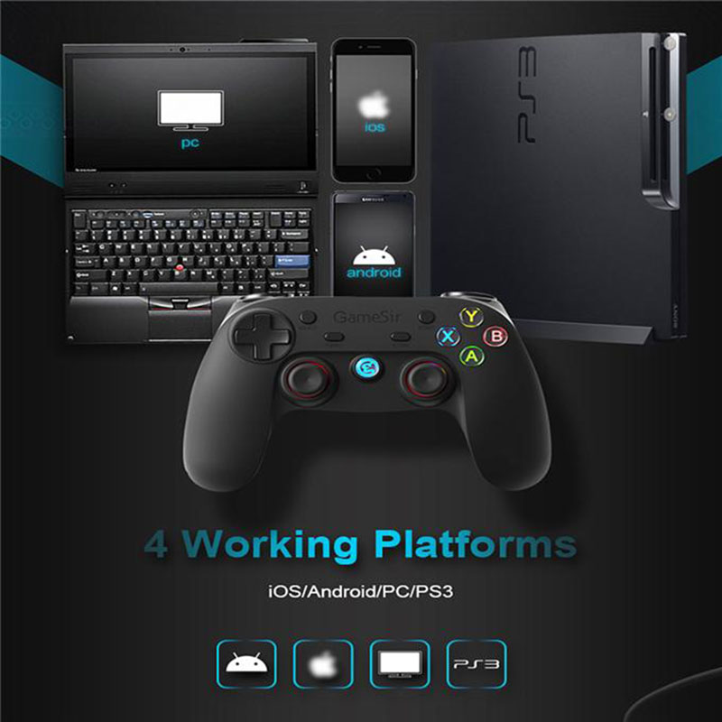 GameSir G3s Enhanced Edition, gamepads smartphone, gamepad android, mando, gamepad iOS, windows mobile, PS3, gamepad pc, gamepad emuladores